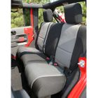 ( 1326509 ) Neoprene Rear Seat Cover, Black and Gray, 07-17 Jeep Wrangler by Rugged Ridge