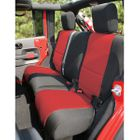 ( 1326553 ) Neoprene Rear Seat Cover, Black and Red, 07-17 Jeep Wrangler by Rugged Ridge
