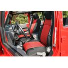 ( 1321453 ) Neoprene Front Seat Covers, Black and Red, 07-10 Jeep Wrangler by Rugged Ridge