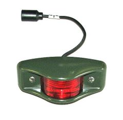 ( 7261919-1 ) Side Clearance Marker Light, Red Lens with Military Green Housing, 24 Volt