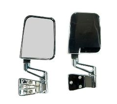 Door Mirror Kit, Chrome, 87-02 Jeep Wrangler by Rugged Ridge