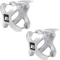 Silver X-Clamp, Pair, 1.25-2.0 Inches by Rugged Ridge