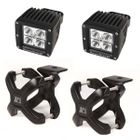 ( 1521022 ) Small X-Clamp & Cube LED Light Kit, Black, Pair by Rugged Ridge