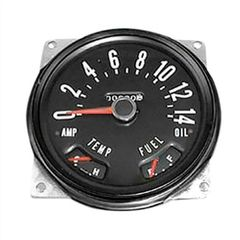 ( 914846 ) Speedometer Cluster Assembly, 0-140 KPH, 1955-1979 CJ5, CJ6, CJ3B, CJ7 Models by Omix-Ada