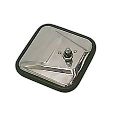CJ-Style Mirror Head, Stainless Steel, Left Hand, 55-86 Jeep CJ Models by Rugged Ridge