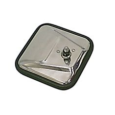 ( 1100602 ) CJ-Style Mirror Head, Stainless Steel, Right Hand,55-86 Jeep CJ Models by Rugged Ridge