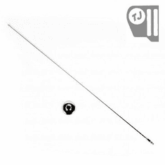 Stainless Steel Radio Antenna Mast and Base Cover, fits 1997-06 Jeep Wrangler TJ, 2004-06 LJ Wrangler Unlimited