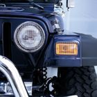 ( 1110203 ) Stone Guard Set, Stainless Steel, 97-06 Jeep Wrangler by Rugged Ridge