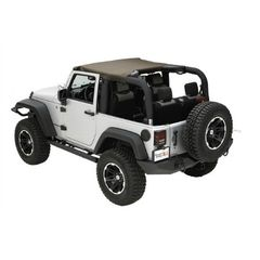( 1359036 ) Summer Brief Top, Diamond Khaki, 10-17 Jeep Wrangler by Rugged Ridge