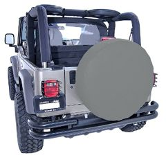 ( 1280109 ) 27-29 Inch Tire Cover, Gray by Rugged Ridge