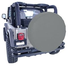 ( 1280409 ) 35-36 Inch Tire Cover, Gray by Rugged Ridge