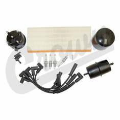 ( TK14 ) Tune-Up Kit for 1991-93 Jeep Wrangler YJ with 2.5L 4 Cylinder Engine & Metric Thread Oil Filter By Crown Automotive