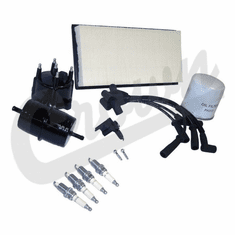 ( TK18 ) Tune-Up Kit for 1991-93 Jeep Cherokee XJ with 2.5L 4 Cylinder Engine with SAE Thread Oil Filter By Crown Automotive