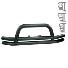 ( 1156101 ) 3-Inch Double Tube Front Bumper, Black, 76-06 Jeep CJ and Wrangler by Rugged Ridge