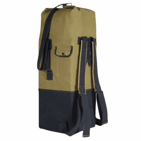 Two-Strap Sport Duffel Bag with Durable Heavy-Weight Cotton Canvas