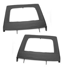 ( 1371215 ) Upper Door Kit, Rear, Black, 07-17 Jeep 4-Door Wrangler by Rugged Ridge