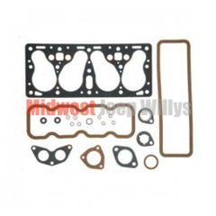 Upper Engine Gasket Set ( Valve Grind ) F-134 4 Cyl. 1952-71 M38A1, CJ3B, CJ5, Truck & Wagon    801344