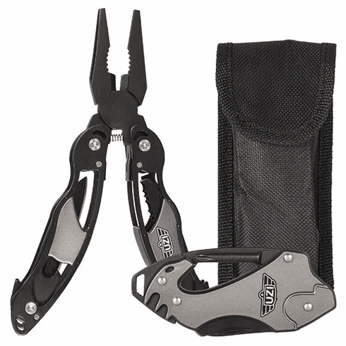 UZI Backpackers Camping Multi Tool Pliers and Multi-Knife Combo