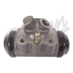 ( 803639 ) Left Side Front Wheel Cylinder, with Angled Hose Connection fits 1960-1971 Jeep CJ3B, CJ5, CJ6 by Crown Automotive
