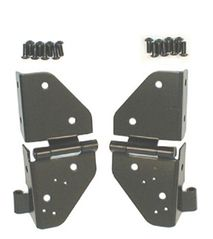 ( 1120901 ) Windshield Hinges, Black, 76-86 Jeep CJ and 87-95 Jeep Wrangler by Rugged Ridge