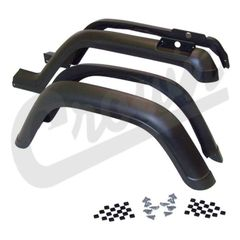 ( 5AHK ) 4 Piece Factory Style Fender Flare Kit for 1987-95 Jeep Wrangler YJ By Crown Automotive