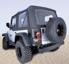 XHD Soft Top, Black Diamond, Tinted Windows, 97-06 Jeep Wrangler by Rugged Ridge