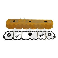 Yellow Painted Aluminum Valve Cover Kit, Fits 1993-2004 Jeep Models with 4.0L engines