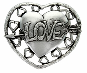 100634 Love Heart With Arrow Belt Buckle Belt Buckle
