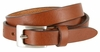 "1794/19 Women's Skinny 3/4""  Genuine Leather Dress Belt Made in Italy (Tan)"