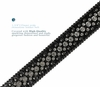 "35158 Rhinestone Belt Fashion Western Bling Studded Design Leather Belt 1-3/8""(35mm) wide-Black"