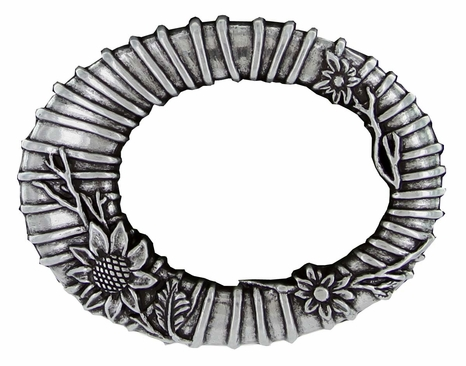 Antique Flower Oval Belt Buckle