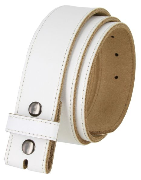 BS1200 100% Genuine Leather Belt Strap - White