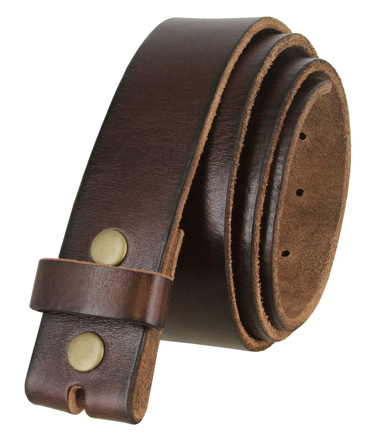 """Genuine Full Grain One Piece Leather Strap Vintage Casual Strap 1-1//2/"""" Wide"""