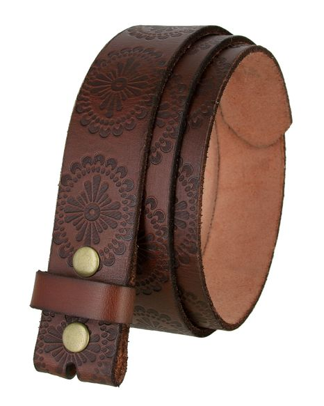 "BS070 Vintage Full Grain Belt Strap 1 1/2"" Wide - Brown"