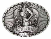 Devil Comes Smiling Belt Buckle