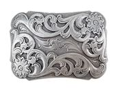Western Antique Floral Scroll Engraved Belt Buckle HA0038 LASRP