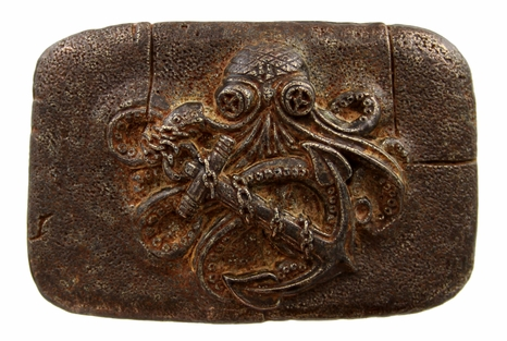 Old Copper Octopus Boat Anchor Belt Buckle