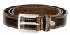 "S074/30 Men's Italian Leather Dress Casual Belt 1-1/8"" Wide Made in Italy - T. Moro (Dark Brown)"