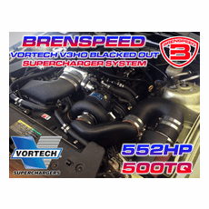2005-09 Mustang GT HIGH OUTPUT Vortech BLACKED OUT Supercharger V3 Brenspeed Package