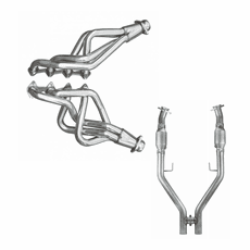 2005-10 MUSTANG PYPES LONG TUBE HEADERS AND EPA APPROVED CATTED HPIPE KIT