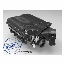 2018 Mustang GT Whipple Stage 1 Supercharger Competition Kit / Intercooled / Black