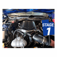 2018-19 Mustang GT Whipple Stage 1 Supercharger Kit / Intercooled / Black