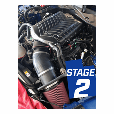 2018 Mustang GT Whipple Stage 2 Supercharger Kit / Intercooled / Black