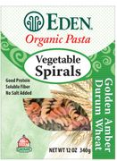 Organic Whole Wheat VEGETABLE SPIRALS - 3/ 12 oz Boxes