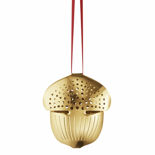 2018 Acorn Holiday Ornament, Gold Plated