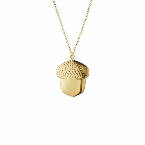 2018 Acorn Ornament, Gold Plated