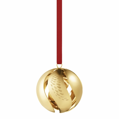2018 Christmas Ball, Gold Plated (14 Left In Store)