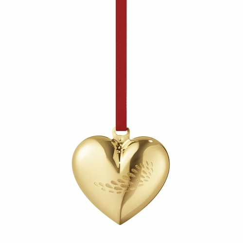 2018 Christmas Heart, Gold Plated