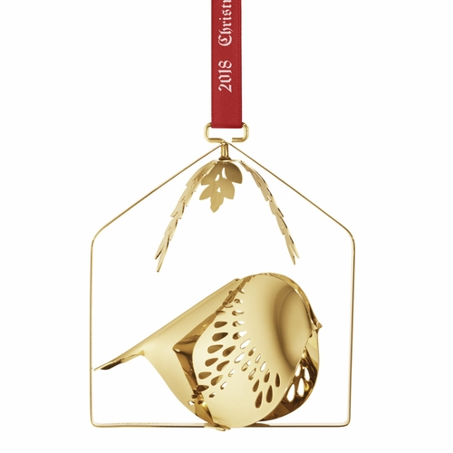 2018 Winter Bird Mobile, Gold Plated