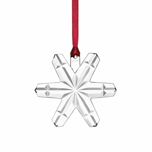 Orrefors 2019 Annual Crystal Ornament, Snowflake